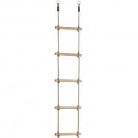 Kötéllétra fa fokokkal – PH kötéllel, 2,5m