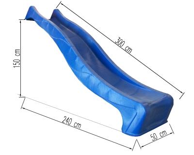 "HDPE ""REX"" hullámcsúszda 150 cm ind.mag."