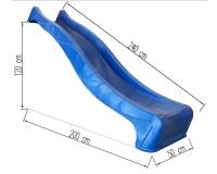 HDPE S line hullámcsúszda 1200 mm