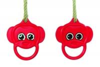 Műanyag, majomfej gyűrűhinta - PH kötéllel